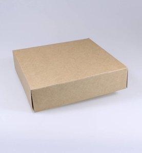 Boîtes pâtisserie kraft - 210 x 210 x 50 mm