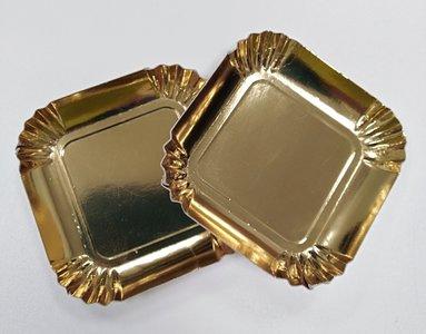 Goudbordje vierkant 65 mm (1200 stuks)
