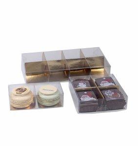 Transparante doos met indeling